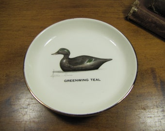 Leland Simmons - Porcelain Coaster - Greenwing Teal