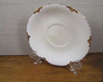 Johnson Brothers Saucer - Gold Daubed Accents - Creamy White - Made in England