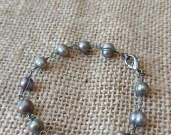Elegant black Freshwater Pearl bracelet