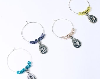 Diamond Wine Glass Tags, Birthday Wine Charms, Bridal Shower Decorations, Birthday Wine Glass Charms, Bridal Shower Décor, Shower Favors