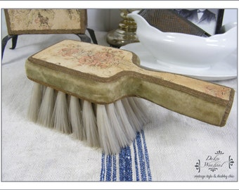 antique textile brush from France -  country living