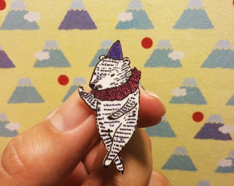 Circus Bear lapel pin