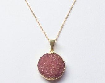 Stella Necklace // Gold Fill // Gold Necklace, Druzy Necklace