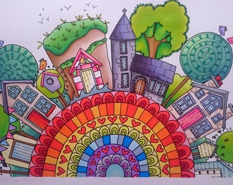 Somewhere over the rainbow - Personalised life story artwork