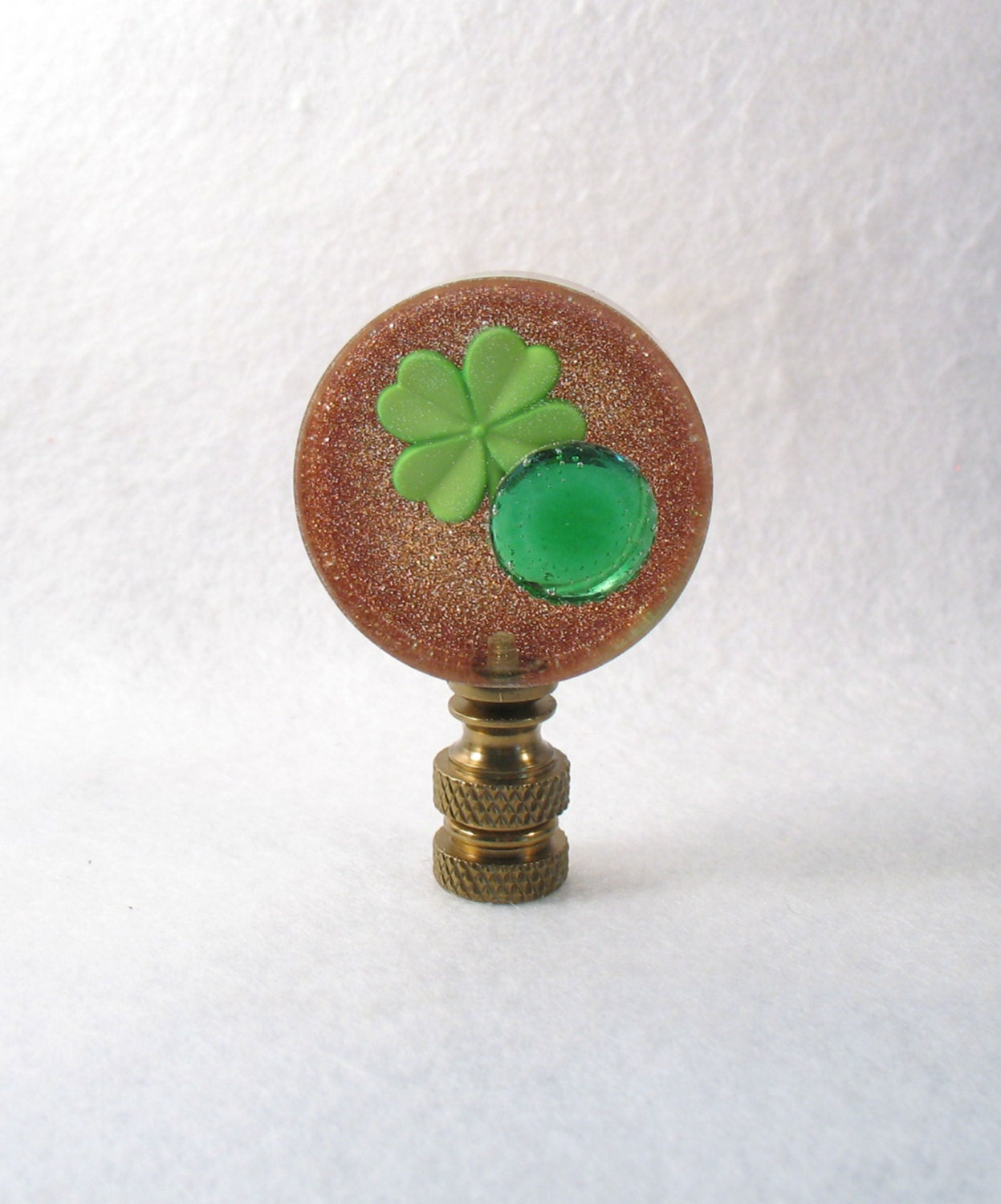 Novelty Lamp Finials : Lamp Finial: St. Patrick s Day Disk Novelty to Mark the