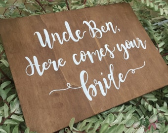 Custom wedding sign / flower girl sign / aisle wedding sign / wooden sign / ring bearer sign
