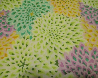 "Kaffe Fassett Dahlia Blooms Spring Fabric ""Table Cloth"""
