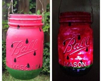 Watermelon Mason Jar