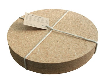 Eco Round Cork Placemats - Set of 4