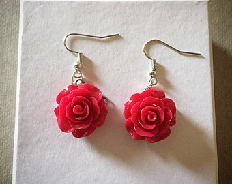 Rose Drop Earrings (20MM)