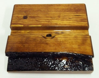 iPad/Tablet Docking Station - Live Edge Wood Stand - Free Shipping