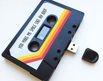 4GB/8GB/16GB USB Mix tape -Retro Valentines Gift - Homemade, Birthday, Wedding Present, Funny, Boyfriend, Bestfriend- Share - Flash Drive