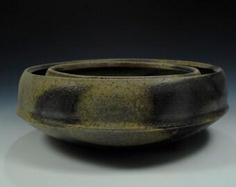 Large woodfired bowl set