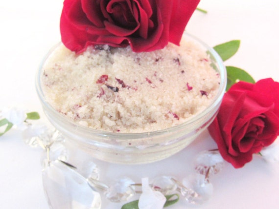 Red Rose Petal Sugar Scrub Body Polish - 8 Oz