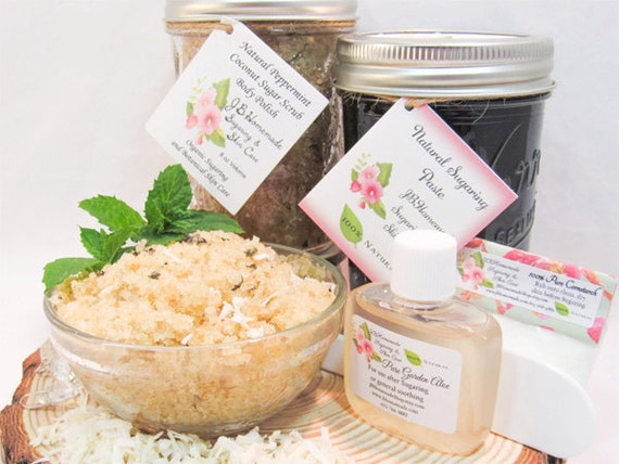 Sugaring Paste & Peppermint Coconut Sugar Scrub Bundle