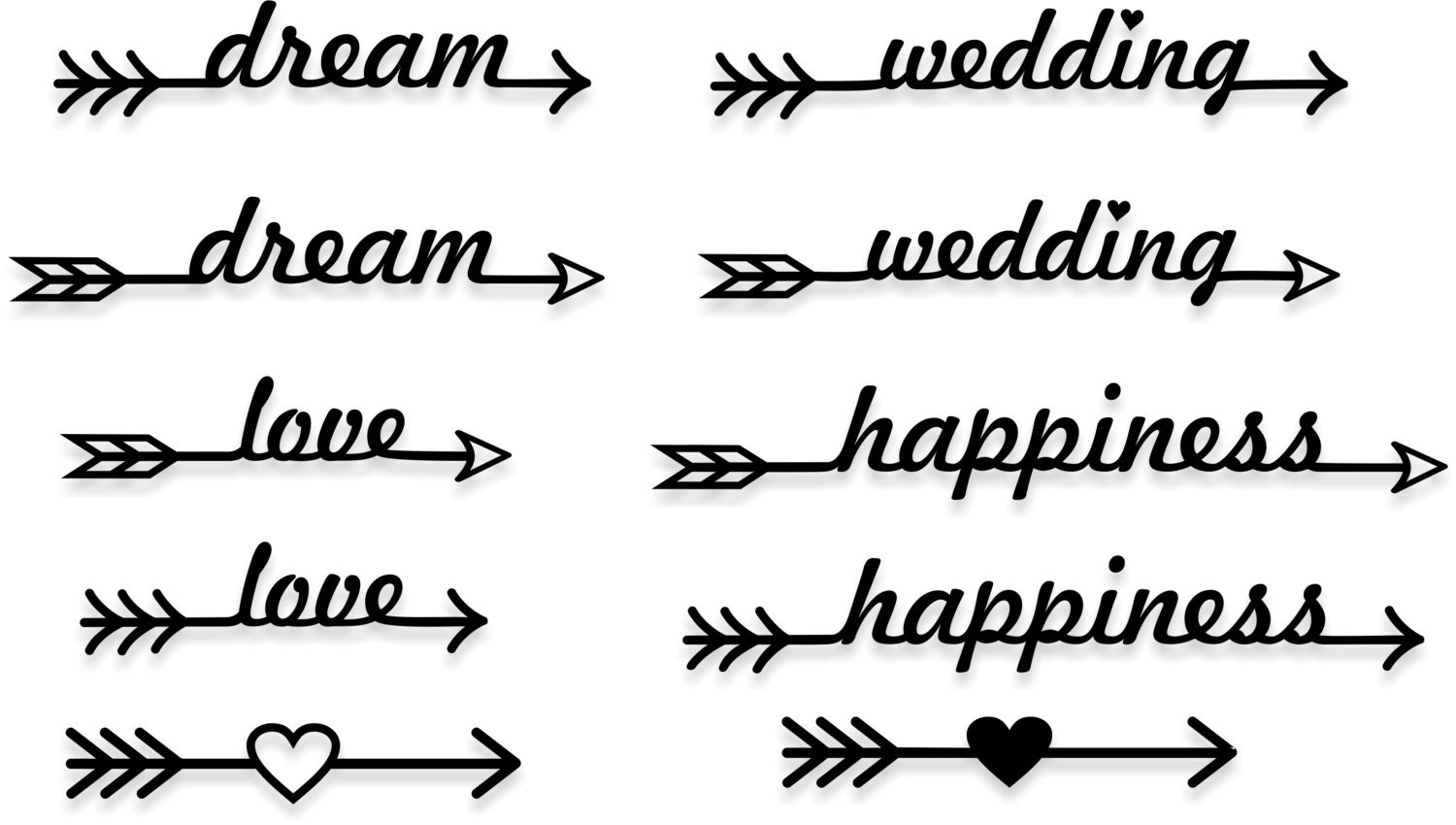Arrow Svg File Arrow Words Svg Arrow Cut Files Arrows