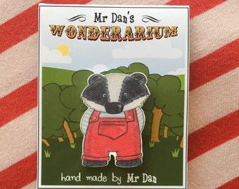 Mr Badger Badge