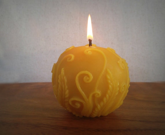 Ball candle beeswax candles decorative