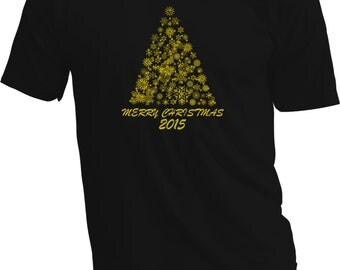 Christmas T Shirt – Gold & black