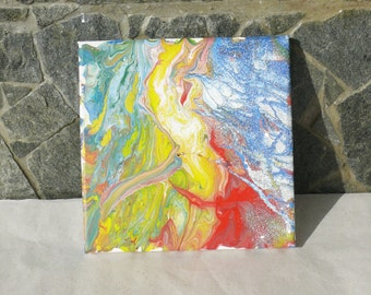 Fire Dance- a picture painted with acrylic paints, Home decor, Office decor, Gift idea