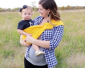 Linen Ring Sling, Baby Sling, Newborn Carrier, Toddler Carrier
