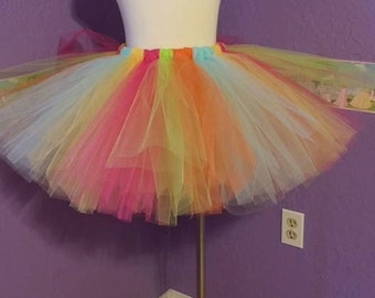 Adult or Child 80's Neon Tutu Skirt