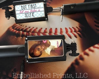Custom personalized selfie stick with any design you want printed on it.