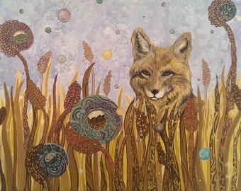 Print: Coyote in a Meadow