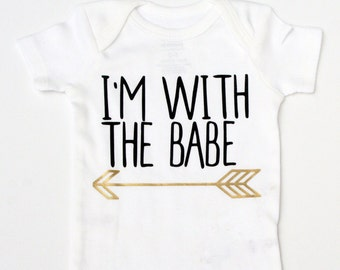 Arrow Baby Bodysuit / Funny Baby Clothes  / Newborn Bodysuit  / Baby Shower Gift / Mama Babe