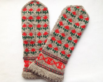Mittens. Hand knitted, wool, colorful mittens. Stay warm and stand out!