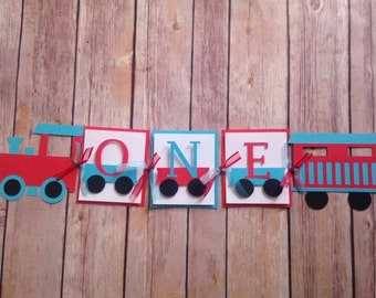 Train Party High Chair Banner, Photoshoot Prop, Wall Hanging