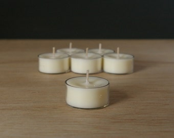 50pk Unscented Soy Tealights
