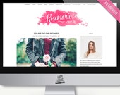 "Wordpress Theme Blog Design - ""Rosemarie"" | Responsive Wordpress Theme - Wordpress Template - Blog Theme Design - Simple Feminine Theme"