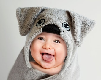 Personalized hooded towels for babies and kids by weechateau hooded towel labrador silver lab dog puppy hooded bath towel negle Choice Image