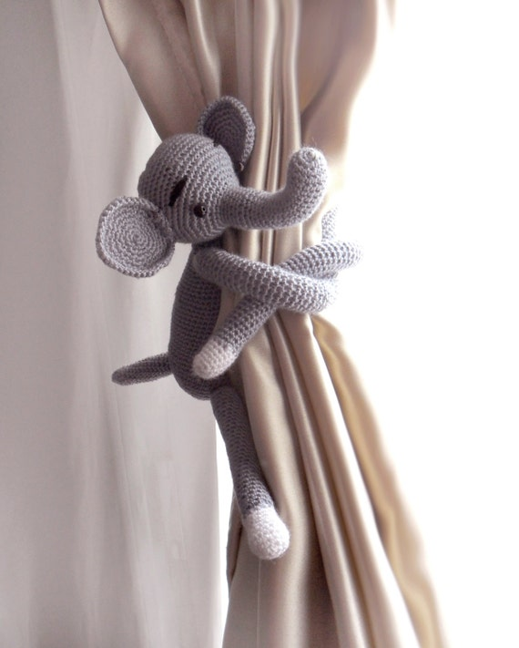 ... curtains,Nursery curtains,Shabby chic curtains,Crochet Curtain Tie