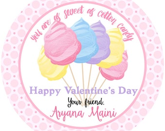 cotton candy labels � etsy