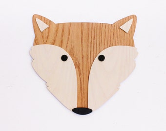 Fox Wall Art. Nursery Wall Art. Kids Room Decor Art. Wooden Fox Art. Animal art. Nursery Decor. Wooden Sign. Baby Gift