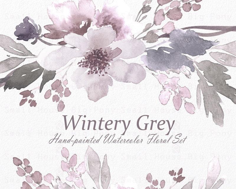 Watercolour Floral Clipart. Handmade, watercolour clipart ...