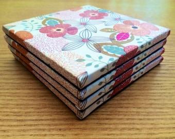 Glitter Flower Coasters