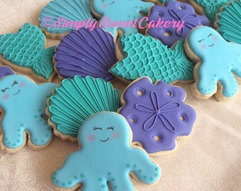 Under the sea themed cookies