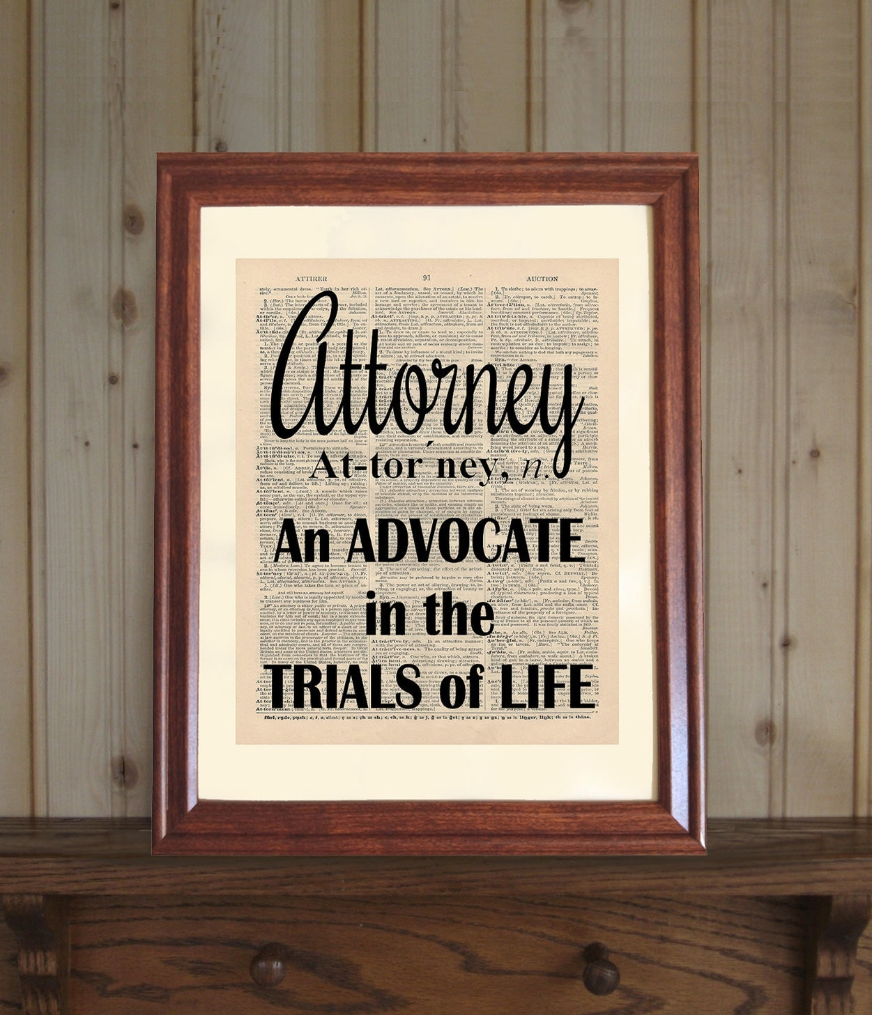 Attorney dictionary print law office decor lawyer quote for Law office decor