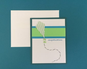 Handmade Congratulations Card with Kite Detail