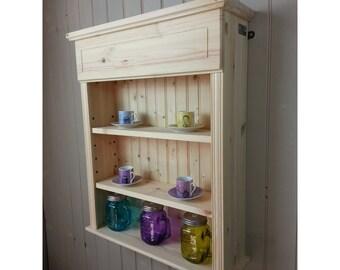 Spice Rack Shelf Unit Kitchen Cabinet Wooden Wall Storage With
