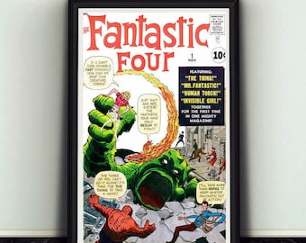 11x17 Fantastic Four #1 Comic Book Cover Poster Print