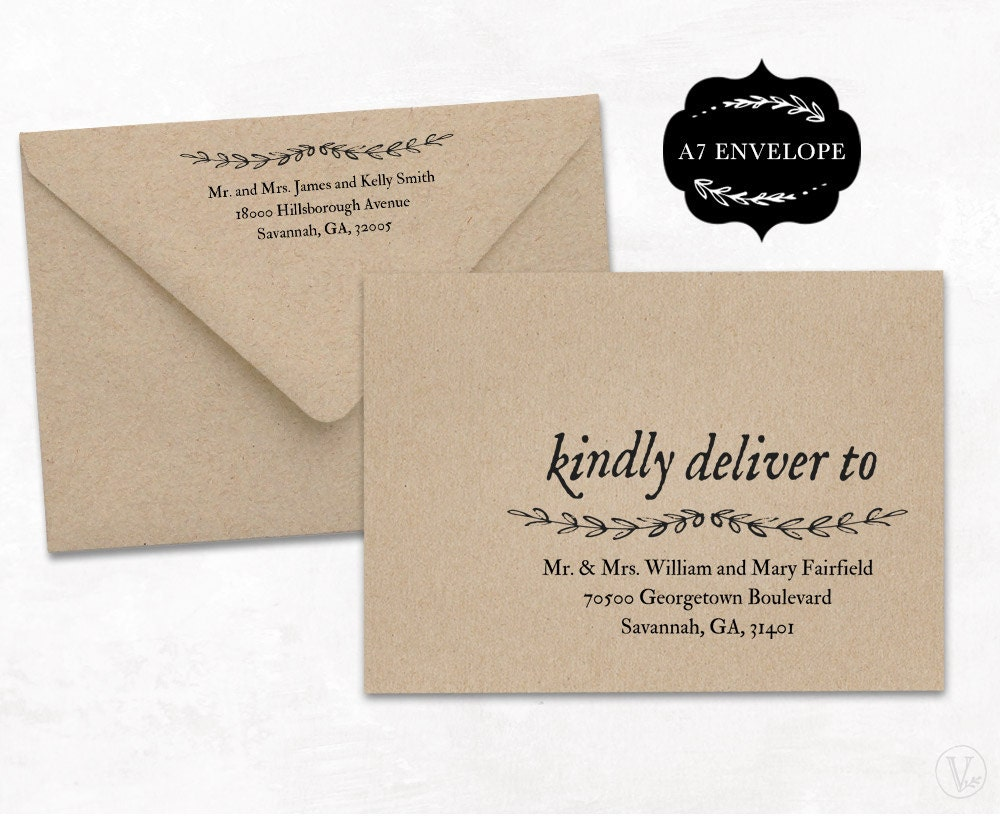 wedding envelope addressing template a7 envelope size