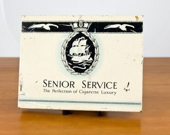Vintage Blue Senior Service Cigarette Tin