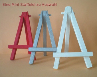 Colored mini easel / card holder / table number 12 cm
