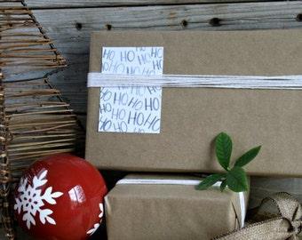 PRINTABLE GIFT TAGS, ho-ho-ho, Christmas, Hand Drawn, Handmade, Hand Drawn, Hand Lettered, Calligraphy