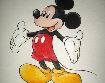 Micky Mouse art print from original acrylic painting