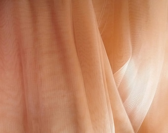 Peach Organza fabric by the yard wedding party crafts tutu